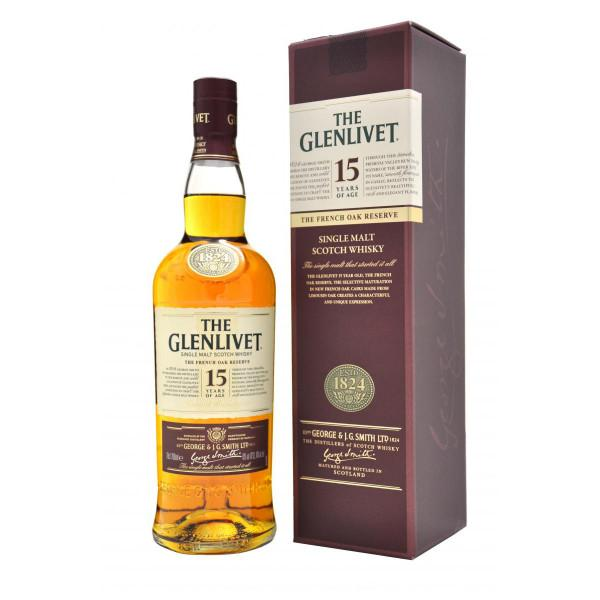 Glenlivet 15 Years Single Malt Scotch Whisky - De Wine Spot | Curated Whiskey, Small-Batch Wines and Sake Collection