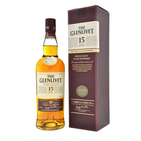 Glenlivet 15 Years Single Malt Scotch Whisky | De Wine Spot - Curated Whiskey, Small-Batch Wines and Sakes
