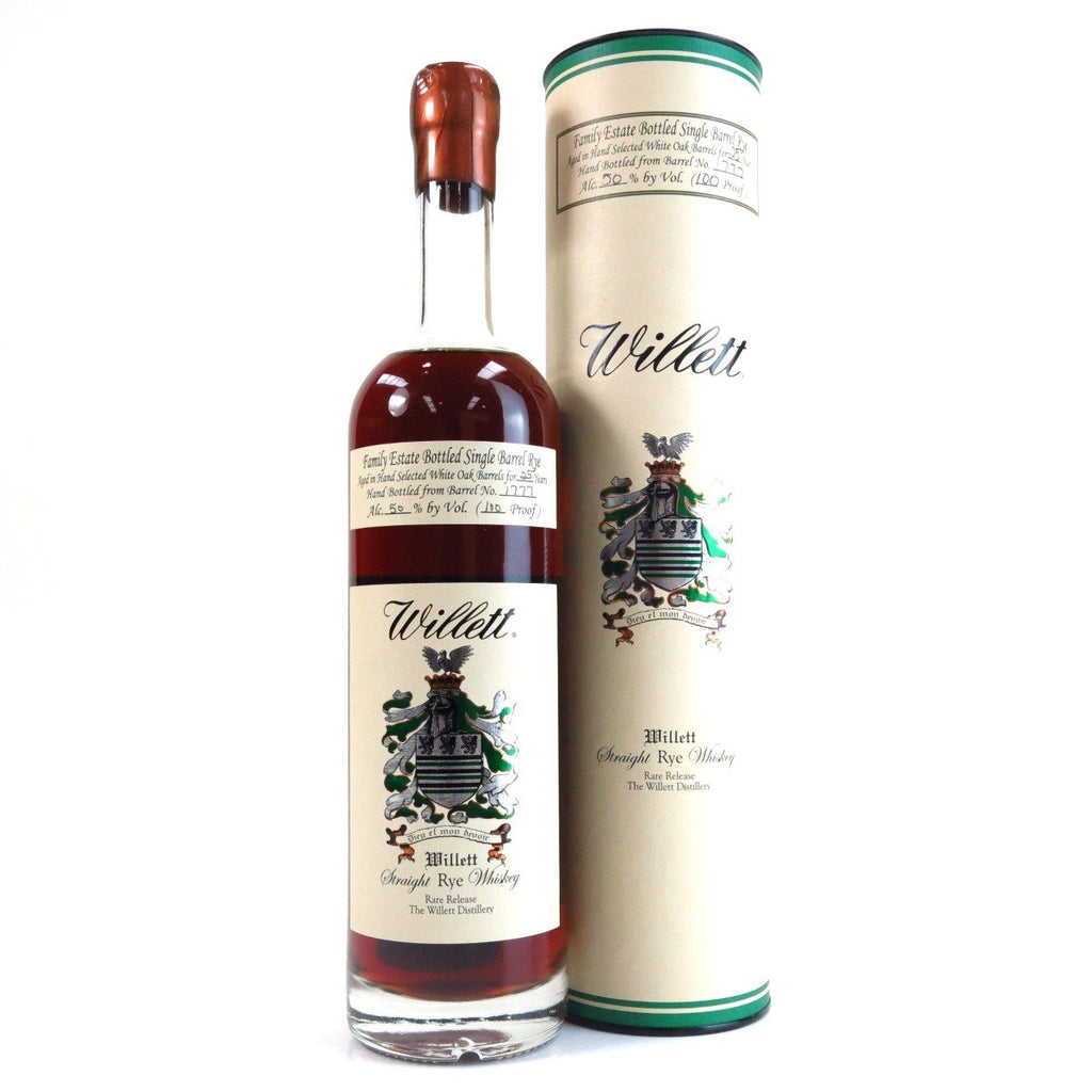 Willett Family Estate Single Barrel 25 Year Old Rye - De Wine Spot | Curated Whiskey, Small-Batch Wines and Sakes