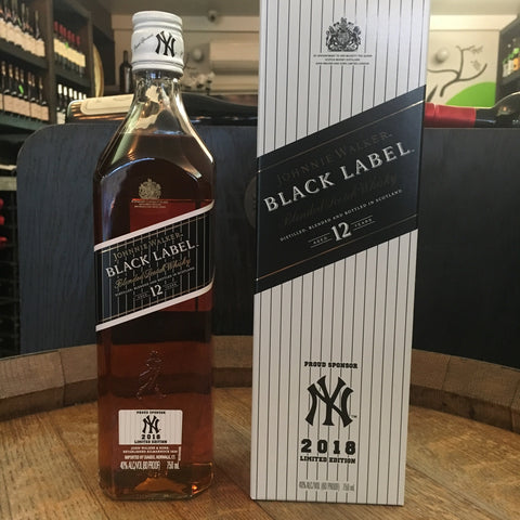 Johnnie Walker Black Label NY Yankees 2018 Limited Edition - De Wine Spot | Curated Whiskey, Small-Batch Wines and Sakes