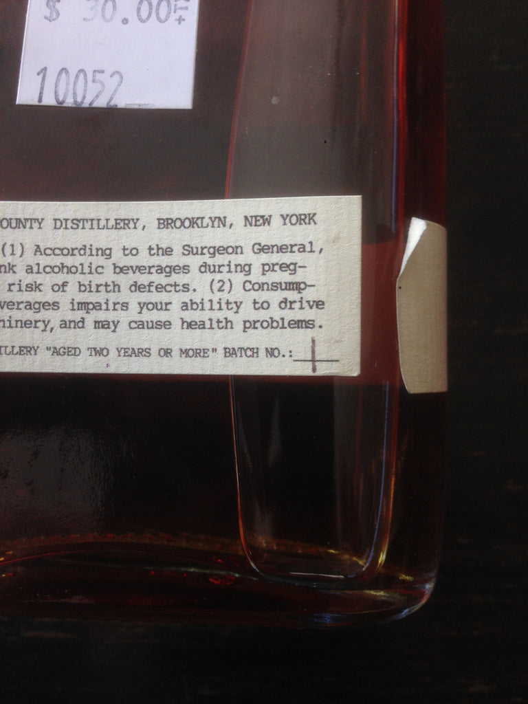 Kings County Distillery Barrel Strength Straight Bourbon Whiskey - De Wine Spot | Curated Whiskey, Small-Batch Wines and Sakes