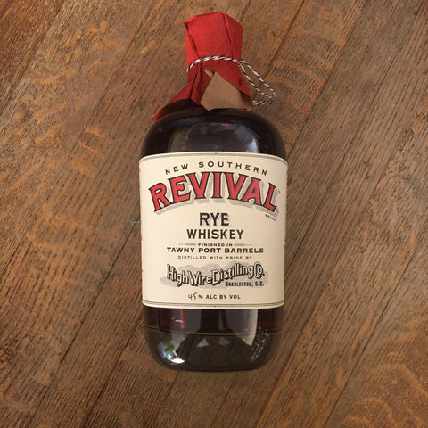 High Wire Distilling Company New Southern Revival Rye Whiskey Finished In Tawny Port Barrels