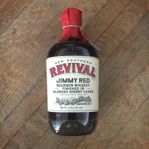 High Wire Distilling Company New Southern Revival Jimmy Red Bourbon Whiskey Finished In Oloroso Sherry Casks