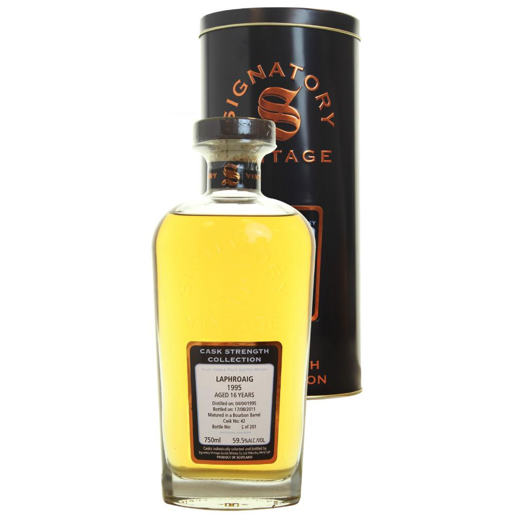 Laphroaig Hogshead 15 yrs Islay Cask Strength Signatory Single Malt Scotch Whisky | De Wine Spot - Curated Whiskey, Small-Batch Wines and Sakes
