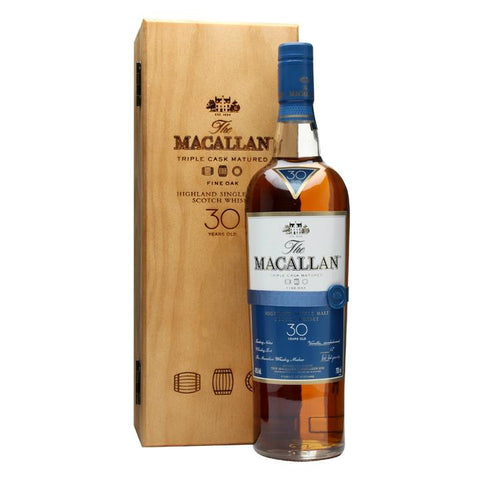 Macallan 30 Years Old Fine Oak Highland Single Malt Scotch Whisky - De Wine Spot | Curated Whiskey, Small-Batch Wines and Sakes
