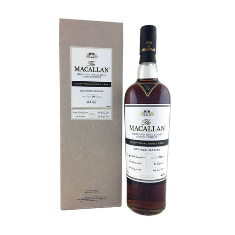 Macallan Exceptional Single Cask Single Malt Scotch Whisky - De Wine Spot | Curated Whiskey, Small-Batch Wines and Sakes