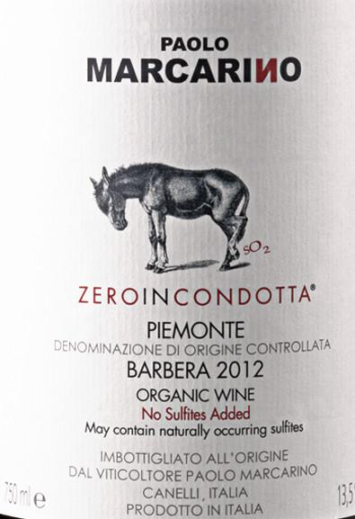 Paolo Marcarino Zero In Condotta Piemonte Barbera d'Asti - De Wine Spot | Curated Whiskey, Small-Batch Wines and Sakes