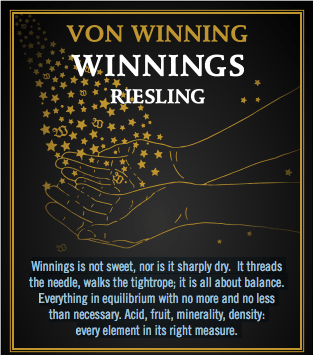 "Von Winning ""Winnings"" Pfalz Riesling 