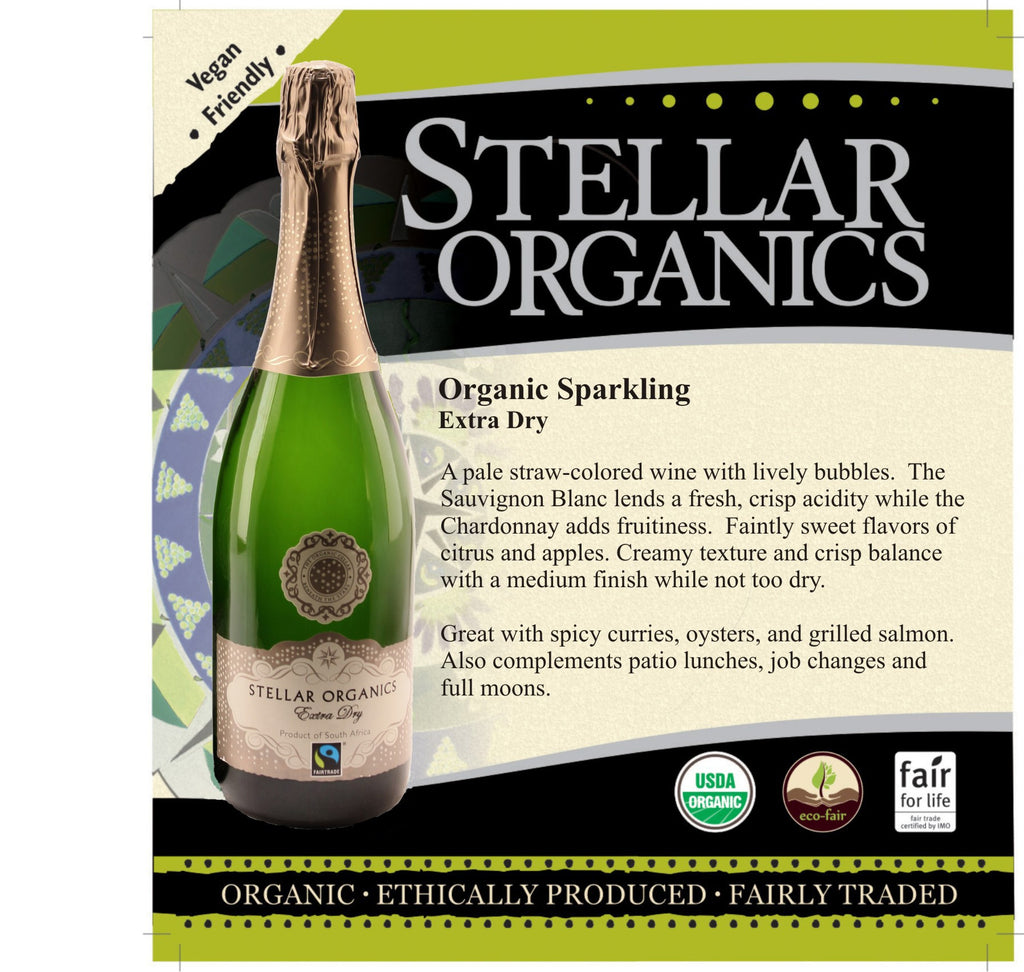 Stellar Organics Extra Dry Sparkling Wine - De Wine Spot | Curated Whiskey, Small-Batch Wines and Sakes
