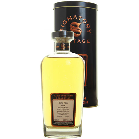 Glen Ord Hogshead 12 yrs Highland Cask Strength Signatory Single Malt Scotch Whisky | De Wine Spot - Curated Whiskey, Small-Batch Wines and Sakes