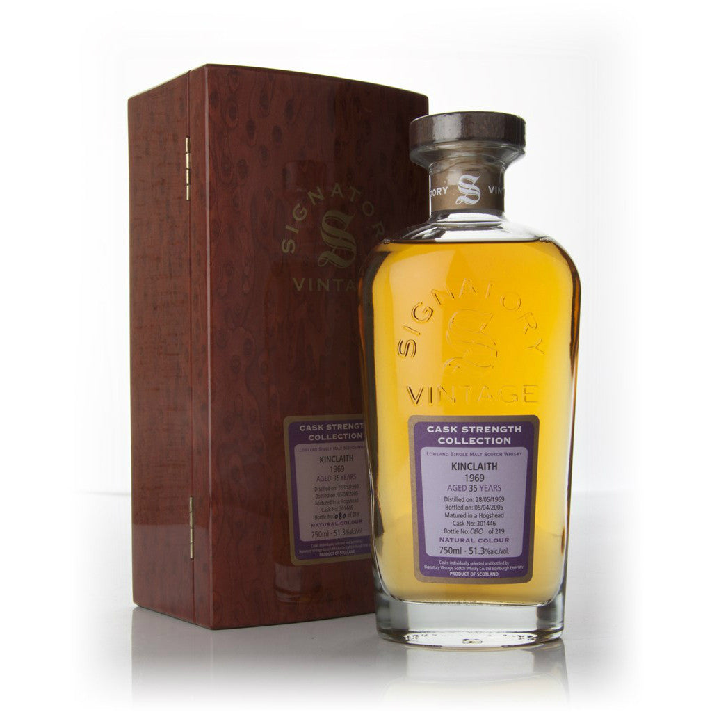 Kinclaith Hogshead 35 yrs Lowland Cask Strength Signatory Single Malt Scotch Whisky - De Wine Spot | Curated Whiskey, Small-Batch Wines and Sakes