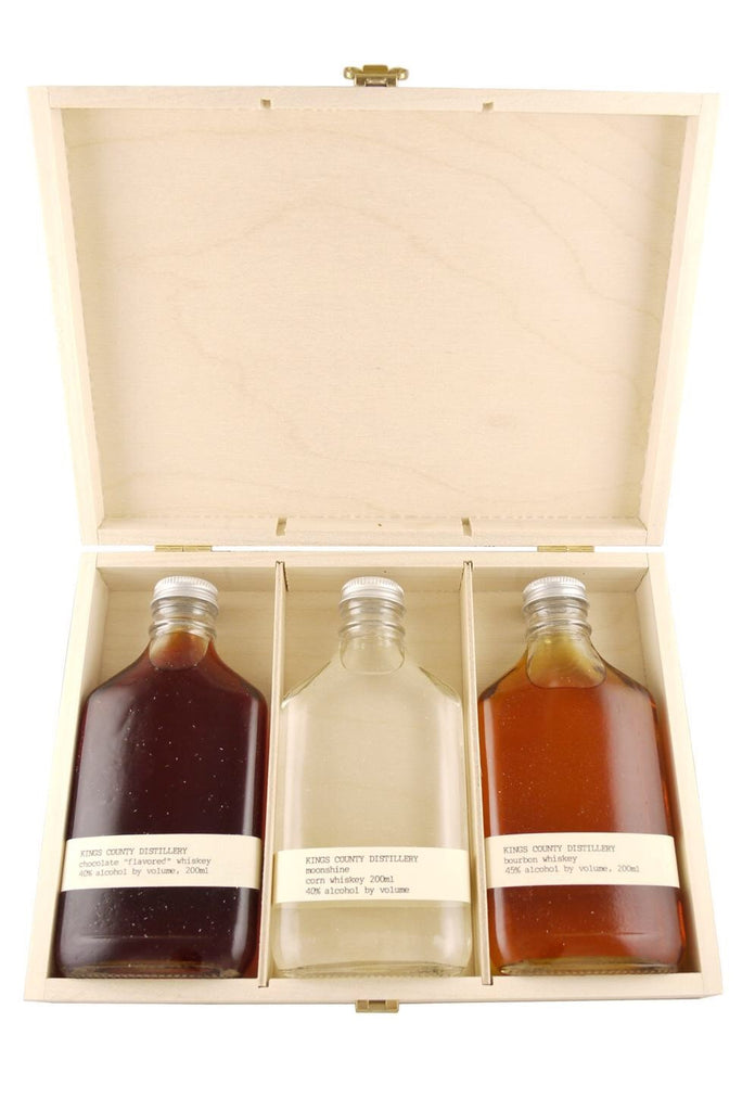 Kings County Distillery Whiskey Gift Set  (Moonshine/Chocolate/Bourbon) - De Wine Spot | Curated Whiskey, Small-Batch Wines and Sakes
