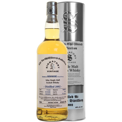 Bowmore Bourbon 11 yrs Islay Unchillfiltered Signatory Single Malt Scotch Whisky - De Wine Spot | Curated Whiskey, Small-Batch Wines and Sakes