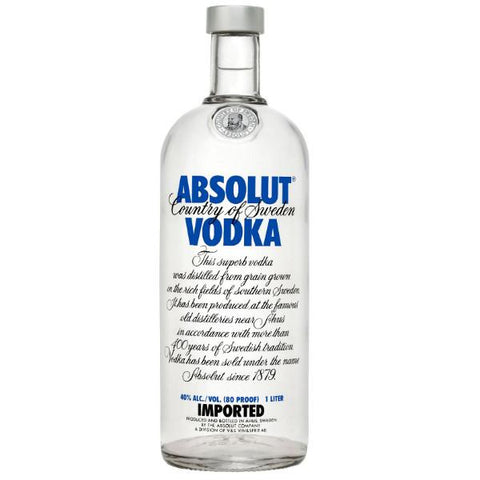 Absolut Vodka | De Wine Spot - Curated Whiskey, Small-Batch Wines and Sakes
