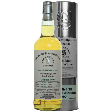 Dufftown 15 yrs Speyside Unchillfiltered Signatory Single Malt Scotch Whisky - De Wine Spot | Curated Whiskey, Small-Batch Wines and Sakes