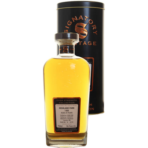 Highland Park Hogshead 25 yrs Island Cask Strength Signatory Single Malt Scotch Whisky | De Wine Spot - Curated Whiskey, Small-Batch Wines and Sakes