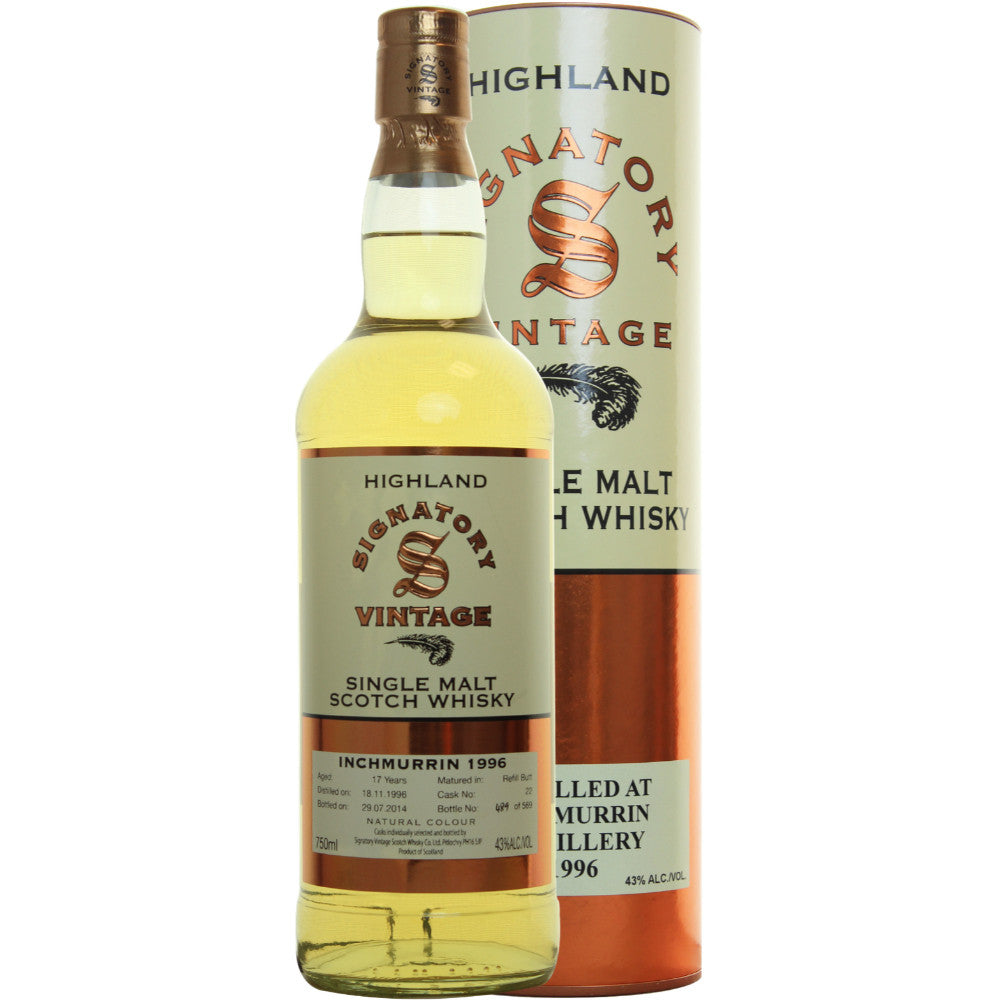 Inchmurrin Refill Butt 17 yrs Highland 86 Proof Signatory Single Malt Scotch Whisky | De Wine Spot - Curated Whiskey, Small-Batch Wines and Sakes