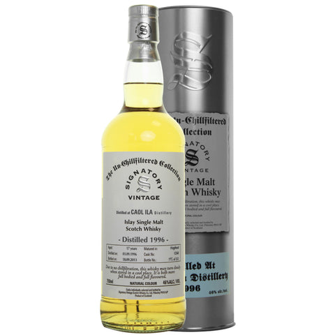 Caol Ila Hogshead 17 yrs Islay Unchillfiltered Signatory Single Malt Scotch Whisky - De Wine Spot | Curated Whiskey, Small-Batch Wines and Sakes