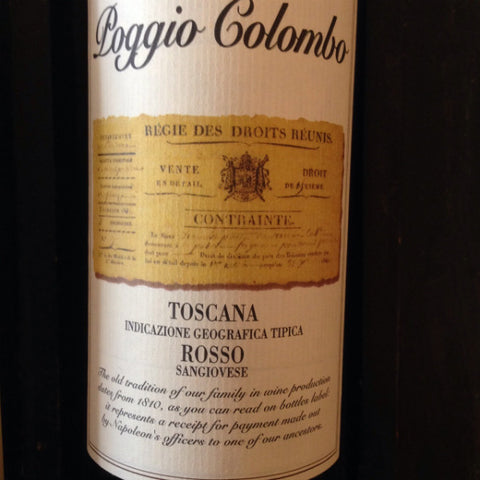 Tenimenti Andreucci Poggio Colombo Toscana Rosso Sangiovese | De Wine Spot - Curated Whiskey, Small-Batch Wines and Sakes