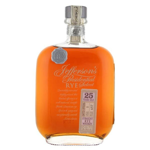 Jefferson's Presidential Select 25 Year Old Rye | De Wine Spot - Curated Whiskey, Small-Batch Wines and Sakes