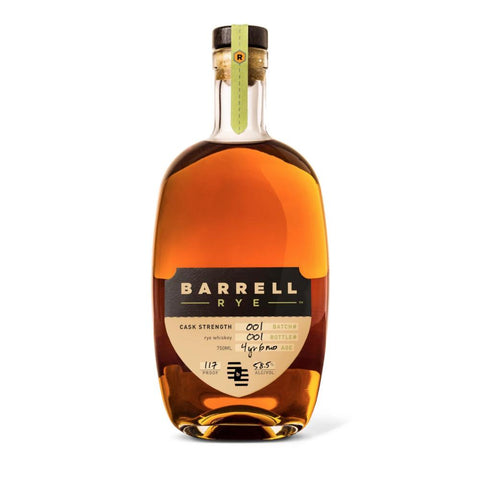 Barrell Rye Whiskey Batch #001 - De Wine Spot | Curated Whiskey, Small-Batch Wines and Sakes