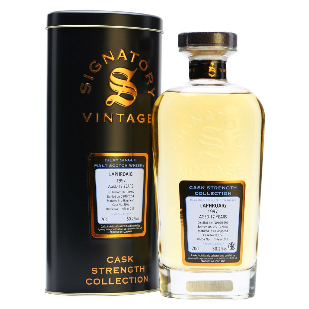 Laphroaig 17 yrs Islay Cask Strength Signatory Single Malt Scotch Whisky - De Wine Spot | Curated Whiskey, Small-Batch Wines and Sakes