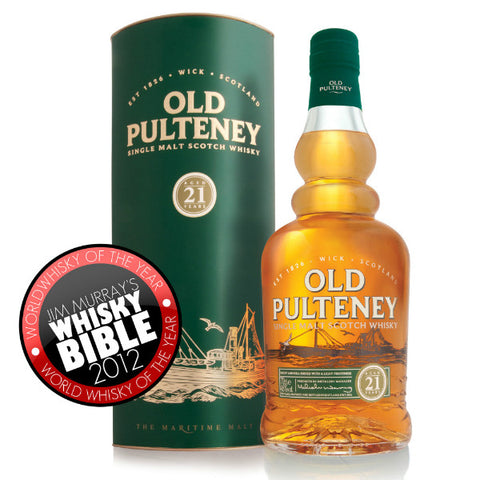 Old Pulteney 21 Years Single Malt Scotch Whisky - De Wine Spot | Curated Whiskey, Small-Batch Wines and Sakes