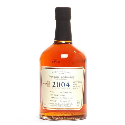 Foursquare Distillery Exceptional Cask Selection 2004 Single Blended Rum - De Wine Spot | Curated Whiskey, Small-Batch Wines and Sakes