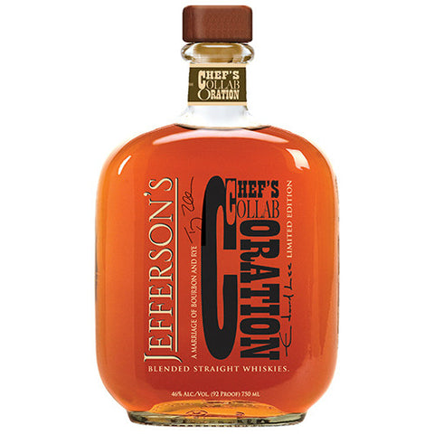 Jefferson's Chef's Collaboration Blended Straight Whiskey | De Wine Spot - Curated Whiskey, Small-Batch Wines and Sakes