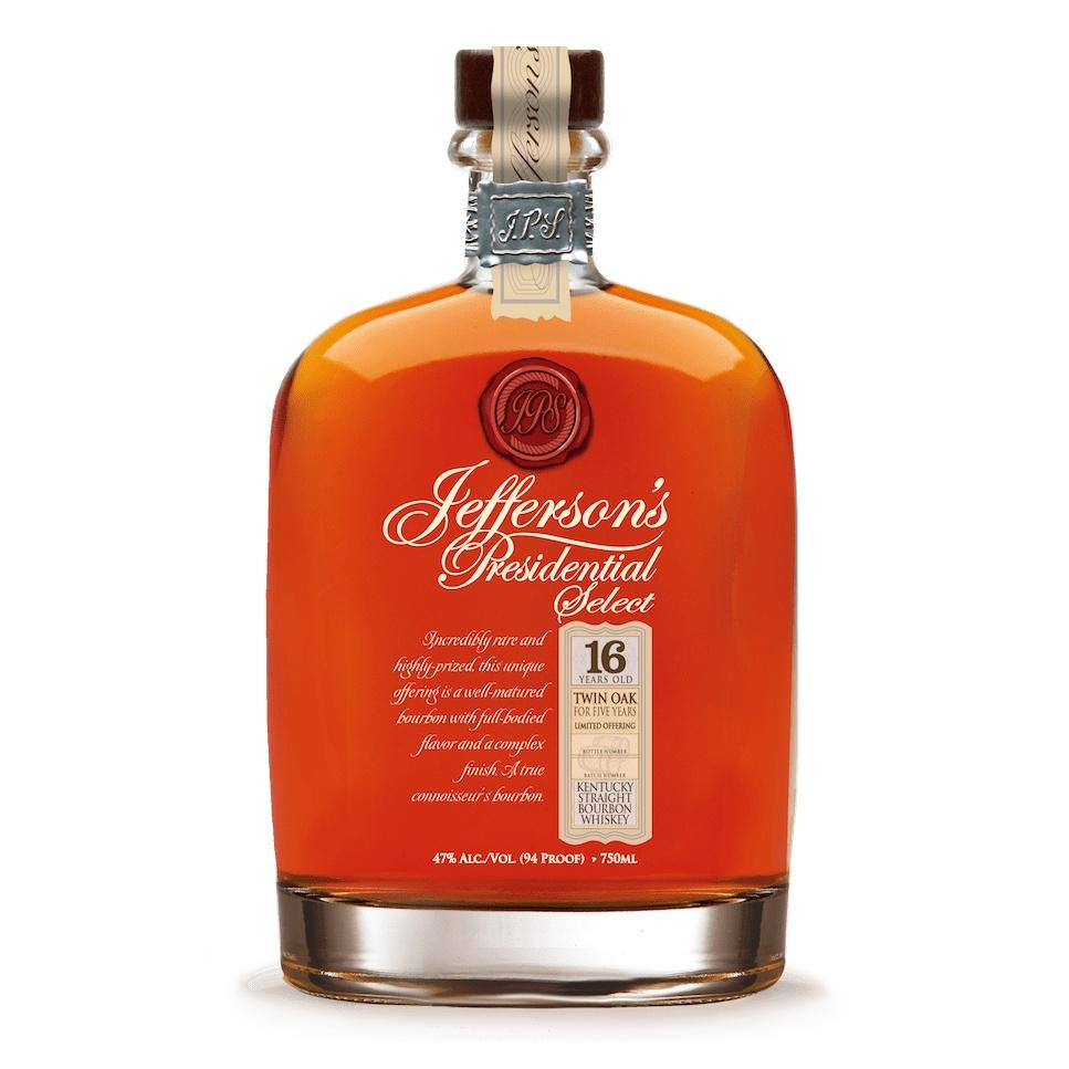 Jefferson's Presidential Select 16 Year Old Twin Oak Straight Bourbon Whiskey | De Wine Spot - Curated Whiskey, Small-Batch Wines and Sakes
