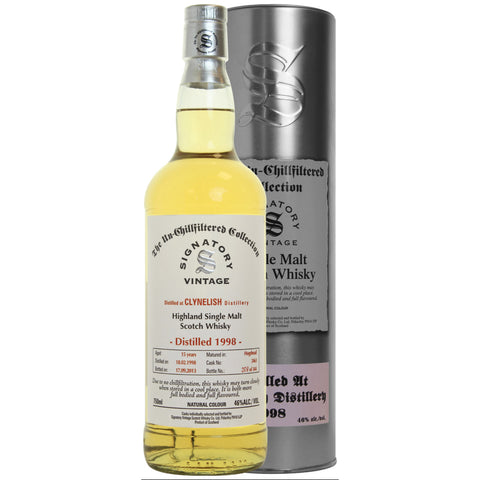 Clynelish Hogshead 15 yrs Highland Unchillfiltered Signatory Single Malt Scotch Whisky | De Wine Spot - Curated Whiskey, Small-Batch Wines and Sakes
