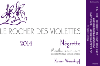 Le Rocher des Violettes  La Negrette  Montlouis-sur-Loire Sec - De Wine Spot | Curated Whiskey, Small-Batch Wines and Sakes