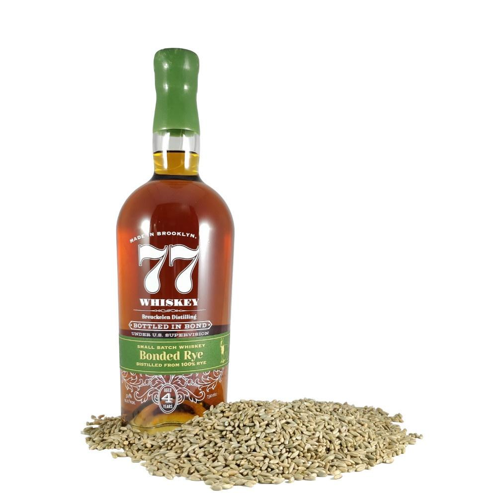 Breuckelen 77 Whiskey Bottle in Bond Small Batch Bonded Rye Whiskey - De Wine Spot | Curated Whiskey, Small-Batch Wines and Sakes
