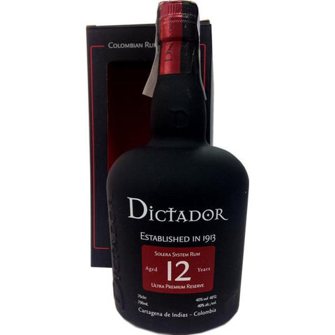Dictador 12 Years Solera System Rum - De Wine Spot | Curated Whiskey, Small-Batch Wines and Sakes