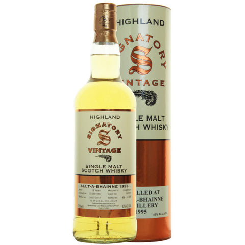 Alt-a-Bhainne Hogshead 18 yrs Highland 86 Proof Signatory Single Malt Scotch Whisky | De Wine Spot - Curated Whiskey, Small-Batch Wines and Sakes