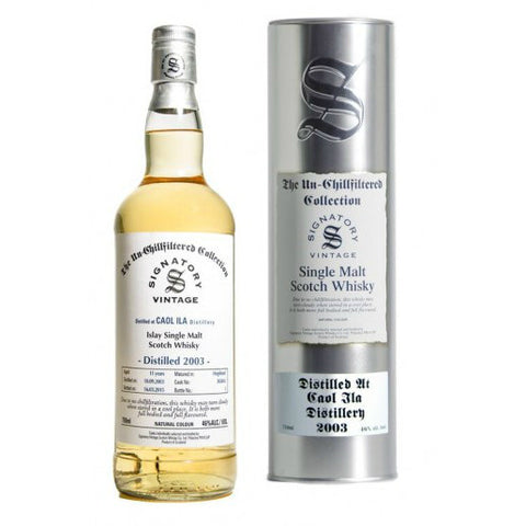 Caol Ila 11 yrs Hogshead Unchillfiltered Signatory Single Malt Scotch Whisky - De Wine Spot | Curated Whiskey, Small-Batch Wines and Sakes