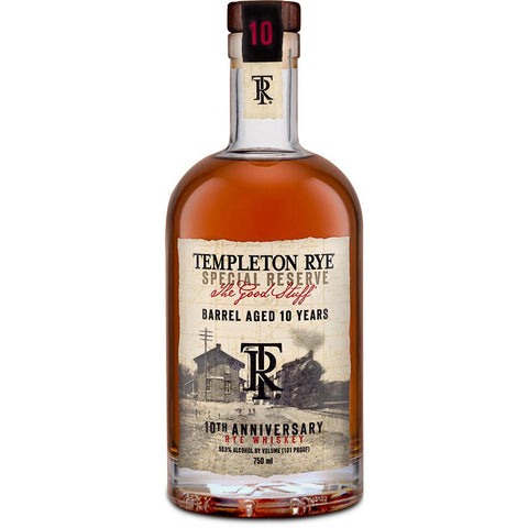 Templeton 10 Years Anniversary Rye Whiskey