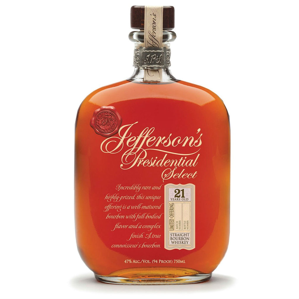 Jefferson's Presidential Select 21 Year Old Straight Bourbon Whiskey | De Wine Spot - Curated Whiskey, Small-Batch Wines and Sakes