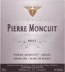 Champagne Pierre Moncuit Grand Cru Extra Brut Blanc de Blancs - De Wine Spot | Curated Whiskey, Small-Batch Wines and Sakes