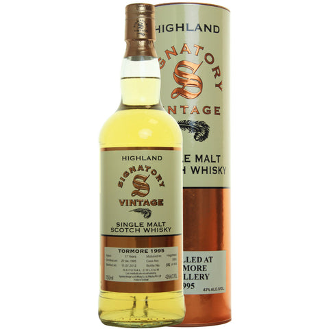 Tormore Hogshead 17 yrs Highland 86 Proof Signatory Single Malt Scotch Whisky | De Wine Spot - Curated Whiskey, Small-Batch Wines and Sakes
