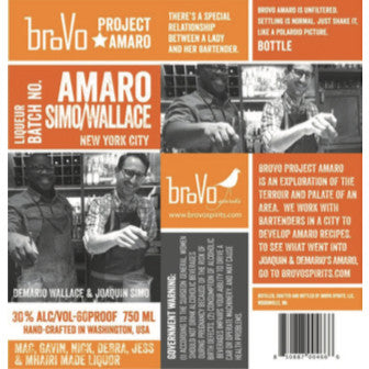 BroVo Project Amaro NYC Simo/Wallace - De Wine Spot | Curated Whiskey, Small-Batch Wines and Sakes