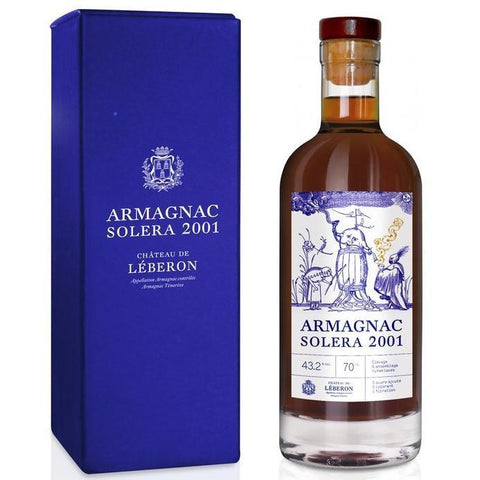 Chateau de Leberon 2001 Solera Single Cask Armagnac - De Wine Spot | Curated Whiskey, Small-Batch Wines and Sakes