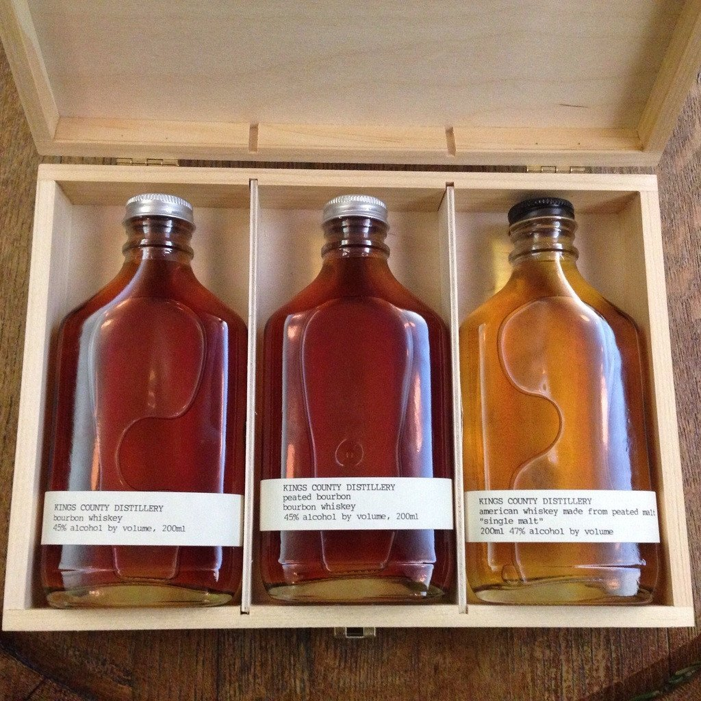 Kings County Distillery Whiskey Gift Set (Bourbon/Peated Bourbon/Single Malt) | De Wine Spot - Curated Whiskey, Small-Batch Wines and Sakes