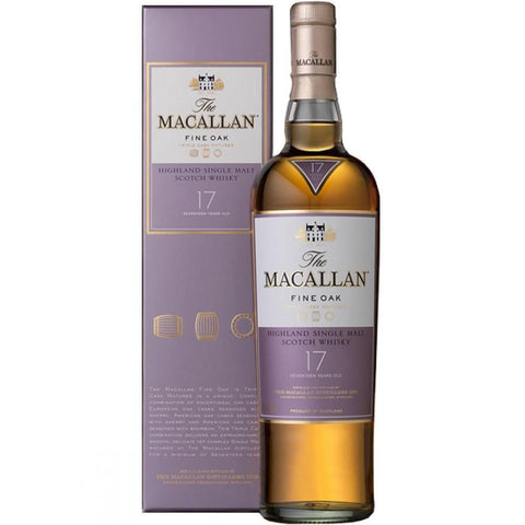 Macallan 17 Year Old Fine Oak Highland Single Malt Scotch Whisky - De Wine Spot | Curated Whiskey, Small-Batch Wines and Sakes
