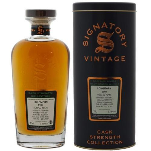 Longmorn Hogshead 24 yrs Speyside Cask Strength Signatory Single Malt Scotch Whisky - De Wine Spot | Curated Whiskey, Small-Batch Wines and Sakes