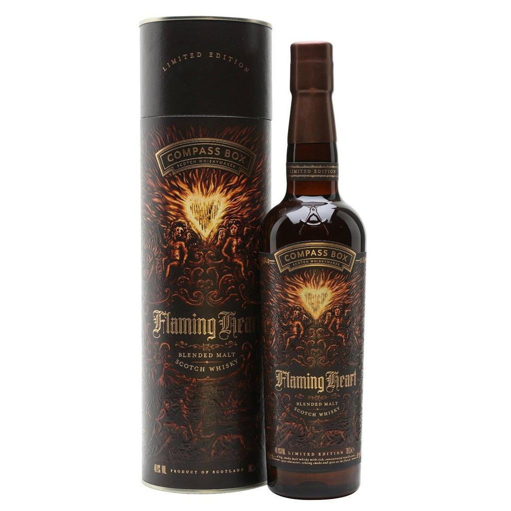 Compass Box Flaming Heart Blended Scotch Whisky - De Wine Spot | Curated Whiskey, Small-Batch Wines and Sakes