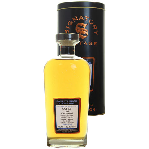 Caol Ila Hogshead 30 yrs Islay Cask Strength Signatory Single Malt Scotch Whisky - De Wine Spot | Curated Whiskey, Small-Batch Wines and Sakes