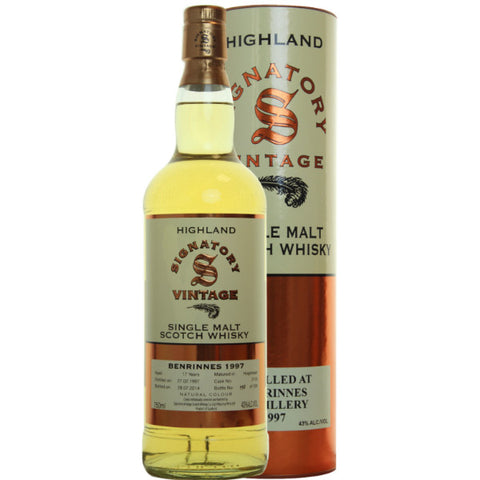 Benrinnes Hogshead 17 yrs Highland 86 Proof Signatory Single Malt Scotch Whisky - De Wine Spot | Curated Whiskey, Small-Batch Wines and Sakes