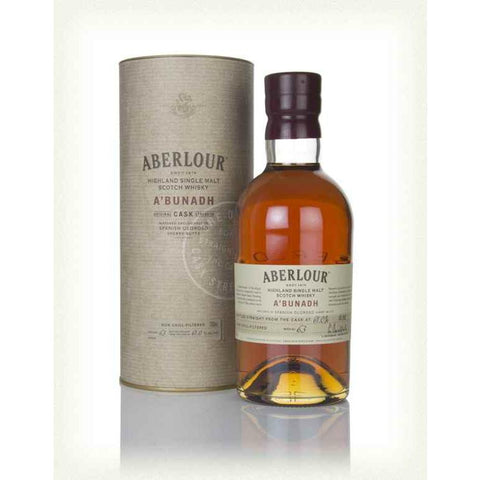 "Aberlour A'Bunadh ""Cask Strength"" Highland Single Malt Scotch Whisky - De Wine Spot 