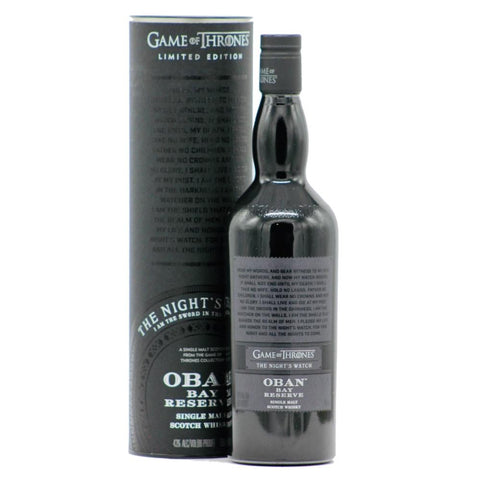 "Game Of Thrones ""The Night's Watch"" Oban Bay Reserve Single Malt Scotch Whisky - De Wine Spot 